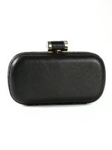 lizard print oblong clutch