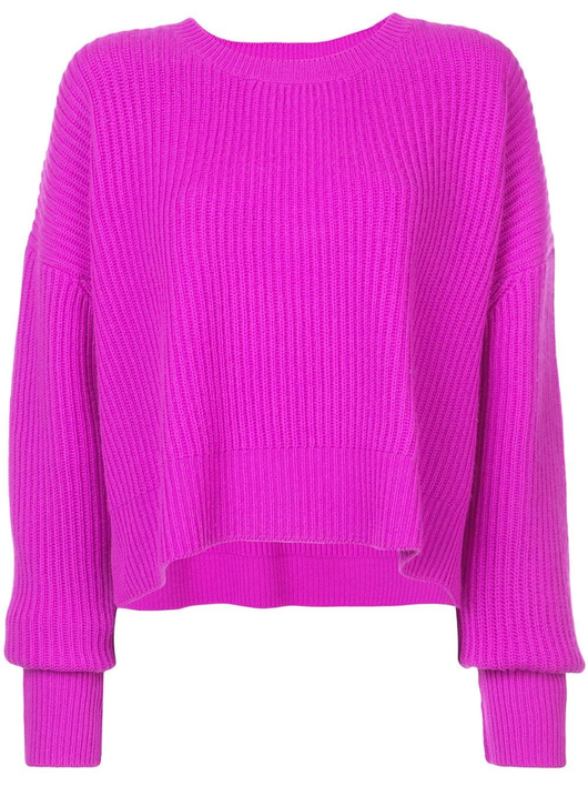 Cashmere crop sweater