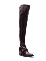 Over the knee buckle boot