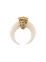 Double Bone Horn W/Pave Diamond Stud