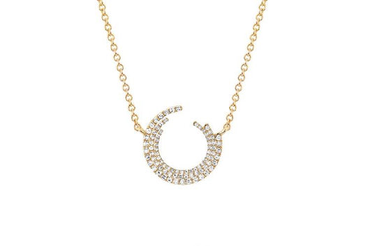 14k diamond willow necklace