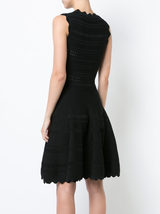Crew Neck Circle Skirt Knit Dress