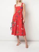 n/s floral print cotton dress
