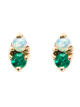 2 Step Earrings W/Emeralds