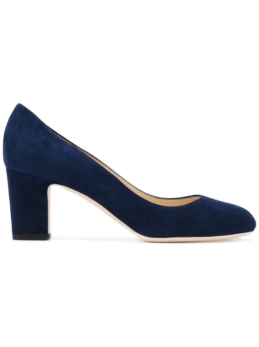 Navy suede Billie pump