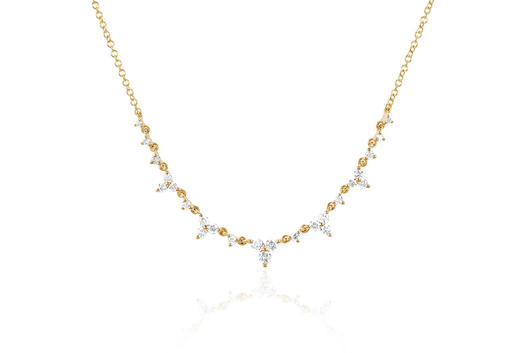 14k diamond tria tiara necklace