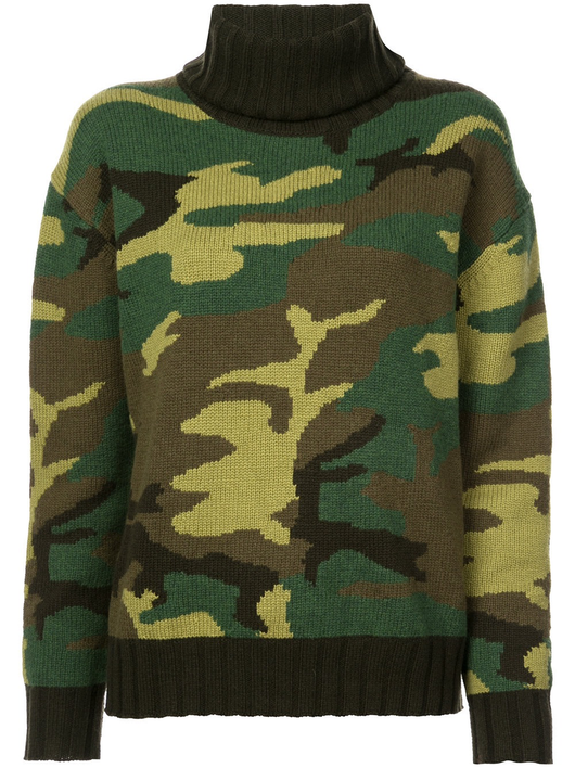 Ponce camo t-neck sweater