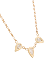 Triple diamond teardrop necklace