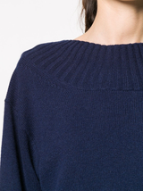 Tie back cashmere sweater