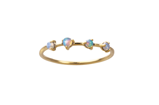 Four Step Opal Ring