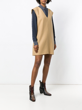 N/S Double Face Wool V-neck Shift Dress