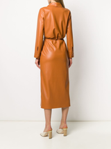 Emery Vegan Leather Wrap Dress