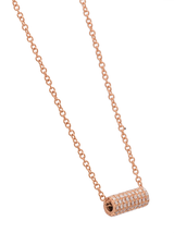 14k  Diamond Cylinder Necklace