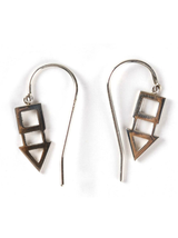 square triangle earrings