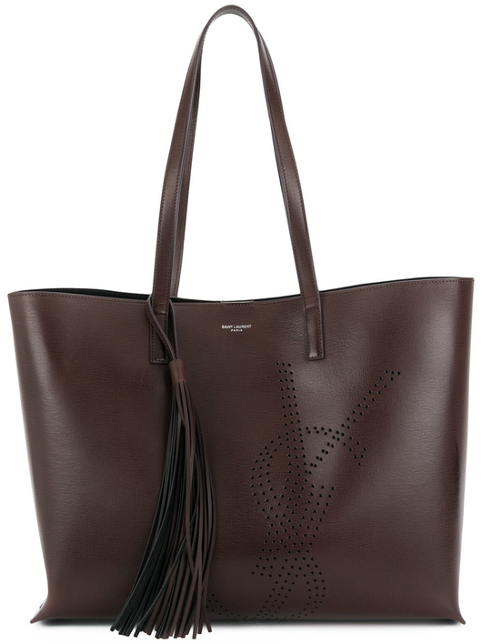 Perforated YSL shopping tote