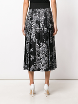 Flower devore skirt