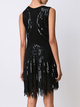 N/S V-Neck Beaded Dress