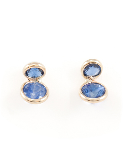 coupled sapphire earrings