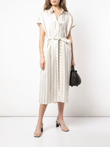 S/s twill stripe dress