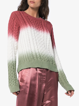 Britta Cotton Cable Dip Dye Knit