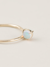 Double Sided Flipped Opal Ring