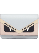 Monster Eyes Wallet on Chain in Pearl Grey
