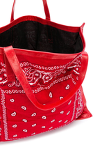 Leather Trim Bandana Bag
