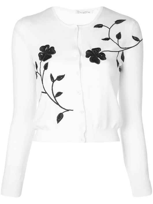 floral cropped cardigan