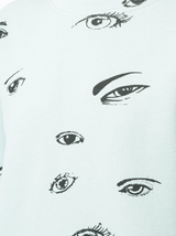 Printed all over eyes sweatshirt