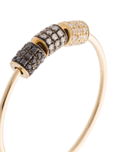 14k Diamond Fade Triple Cylinder Ring