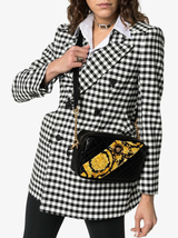 Quilted Barocco Print Cross Body Bag