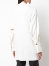 Wool cashmere mock neck sweater