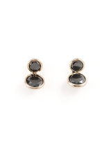coupled black diamond earrings