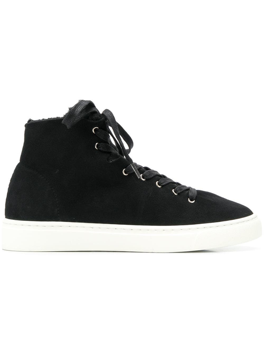 high top shearling lined sneakers