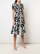 s/s floral print day dress