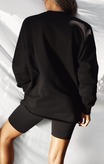 THE A.T.G OVERSIZED JUMPER - BLACK