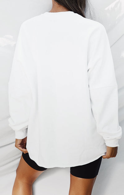 THE A.T.G OVERSIZED JUMPER - WHITE