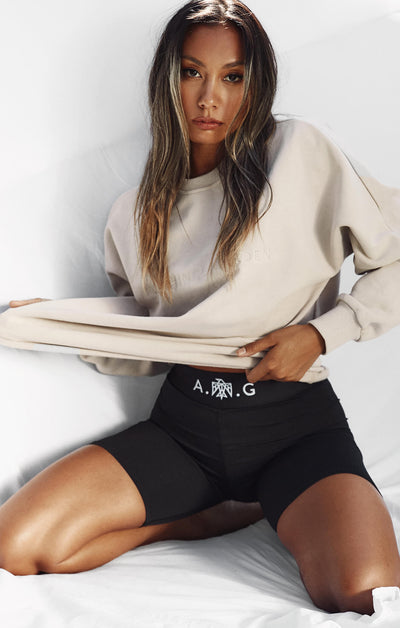 THE A.T.G OVERSIZED JUMPER - TAUPE