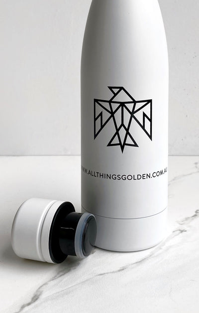 THE A.T.G STAINLESS STEEL BOTTLE - WHITE