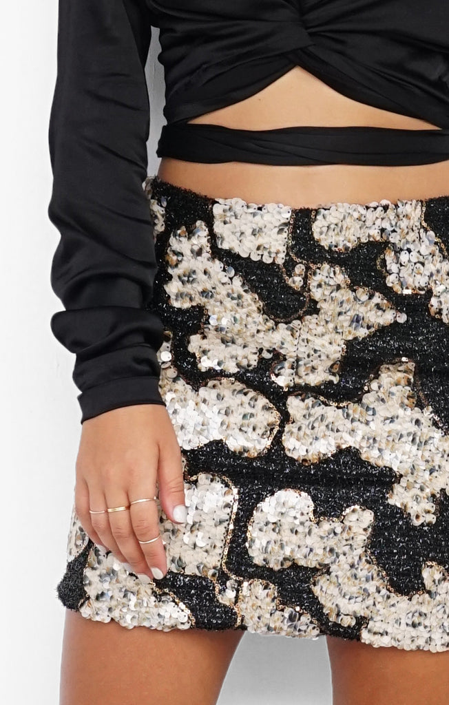 THE LUSTRE SEQUIN MINI - BLACK
