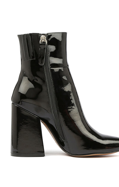THE AHARA BOOT - BLACK PATENT