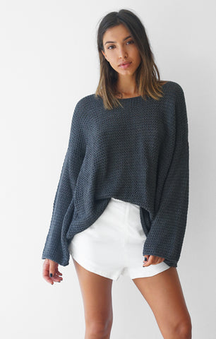 THE EVERYDAY CHUNKY KNIT - CHARCOAL