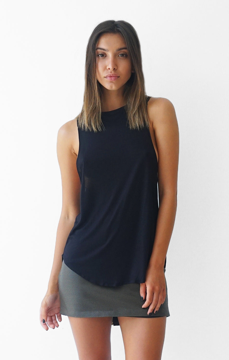 THE HIGH NECK TANK - BLACK