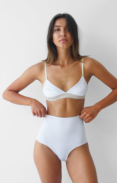 THE GOLDEN BRALETTE - WHITE
