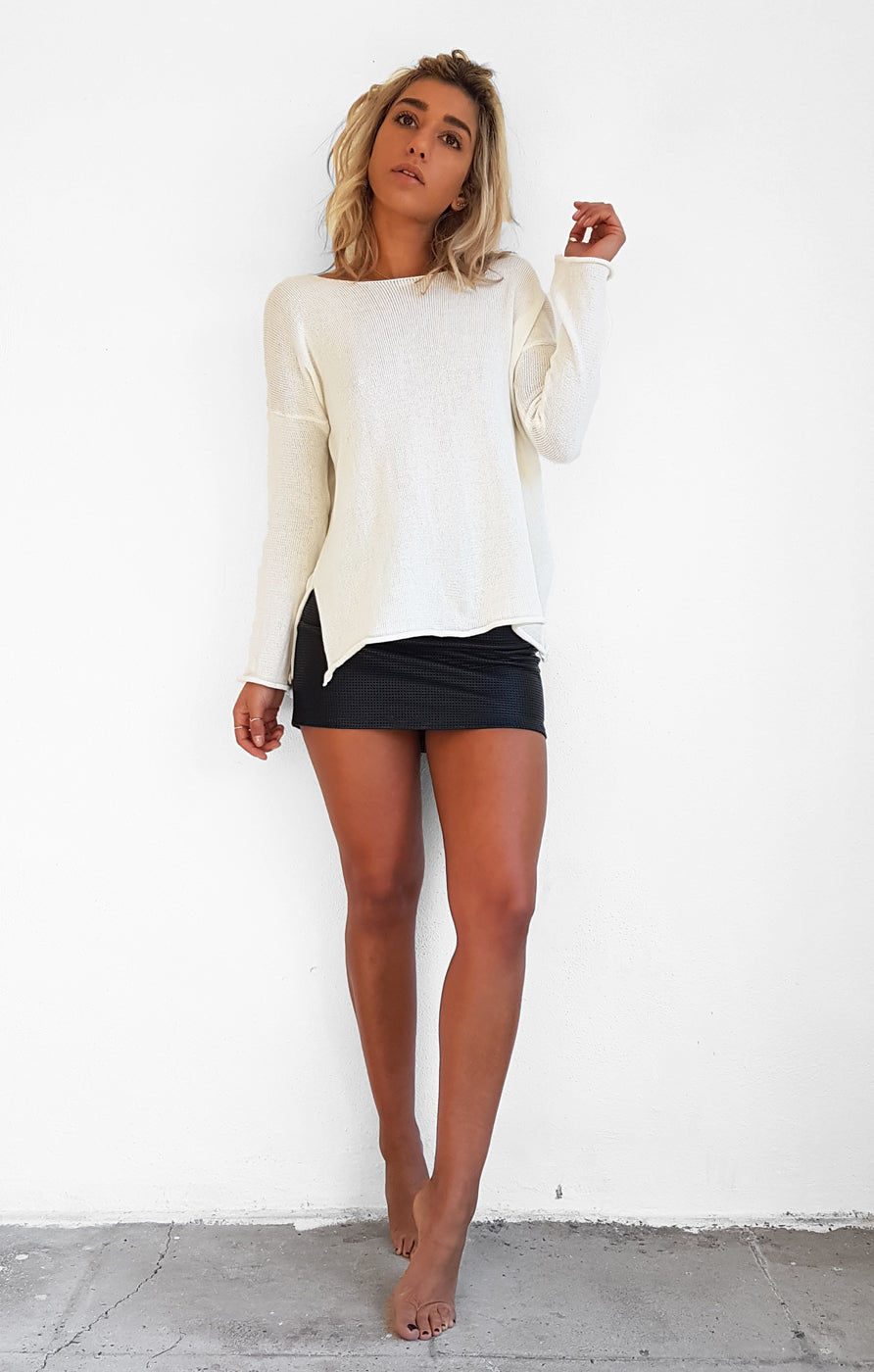 THE HABITUAL KNIT - WHITE