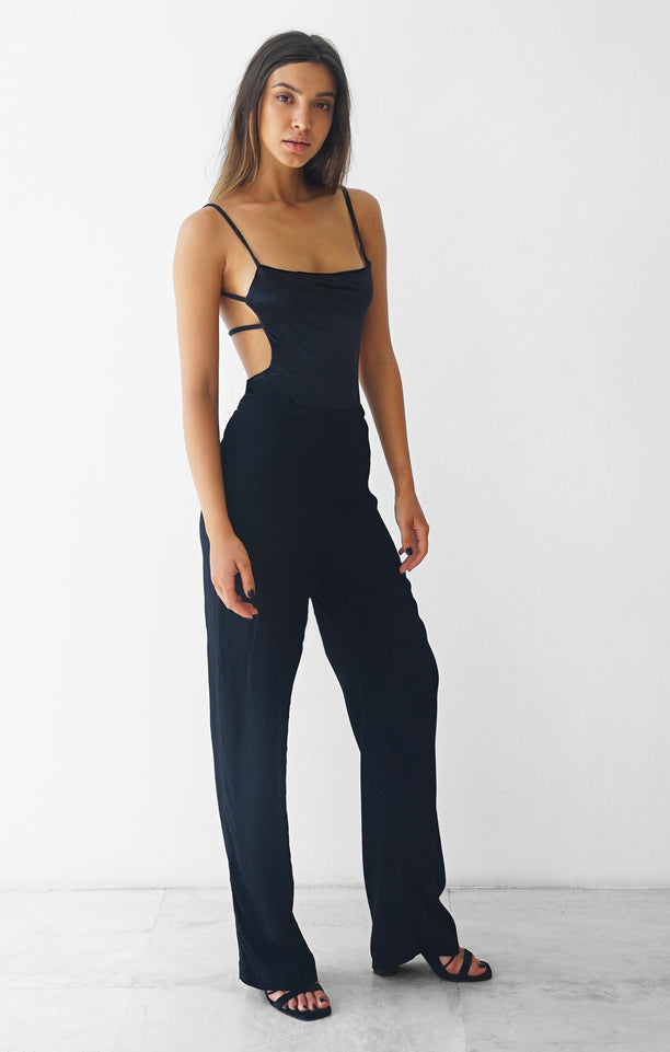 THE DOUBLE STRAP BODYSUIT - VELVET