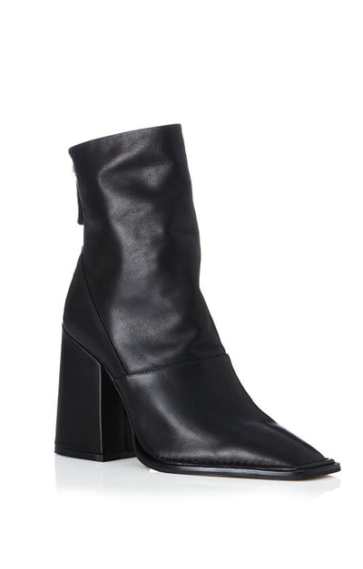 THE EDIE BOOT - BLACK BURNISHED