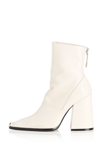 THE EDIE BOOT - BONE LEATHER