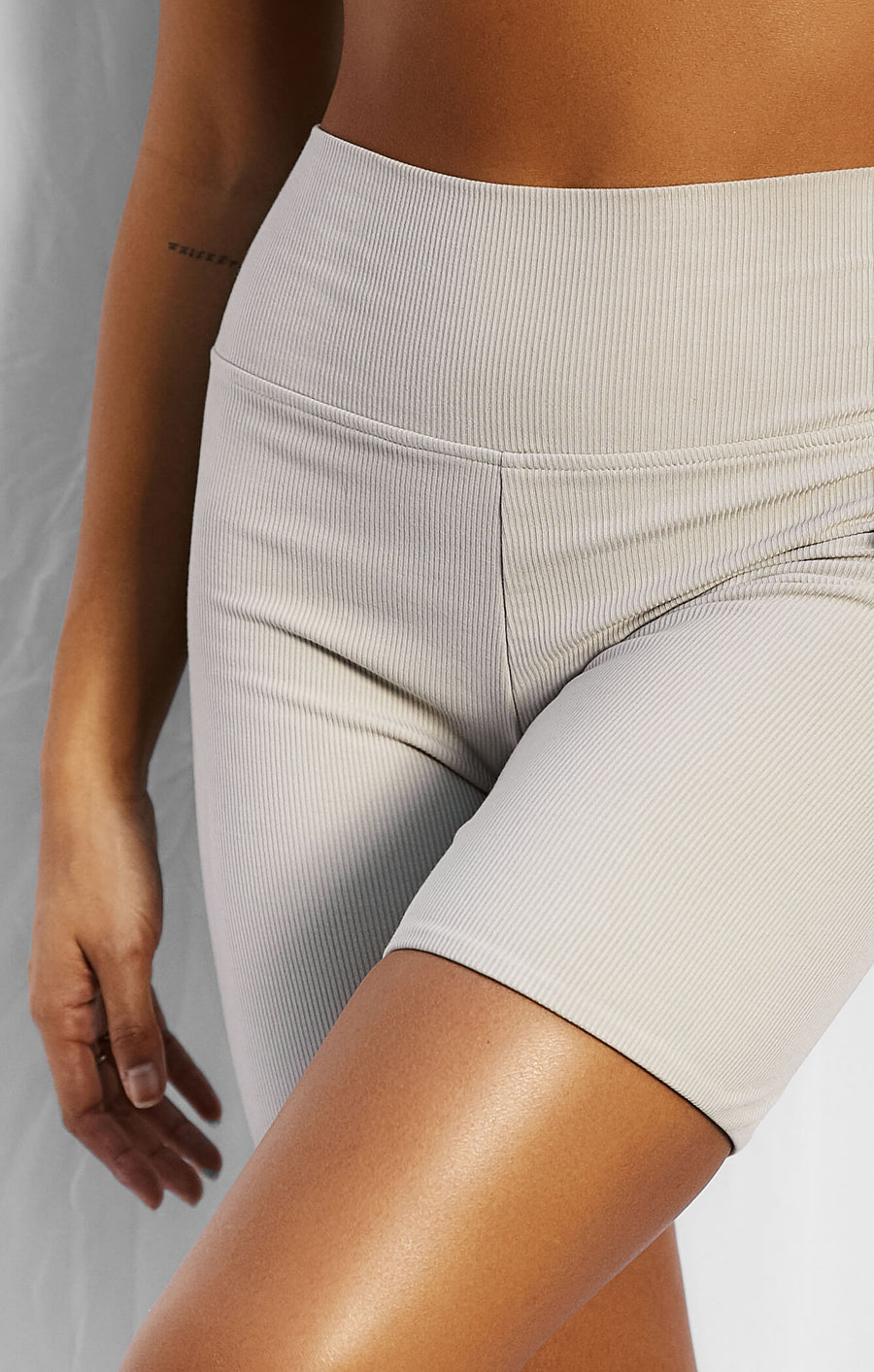 THE LUXE RIB BIKE SHORT - STONE