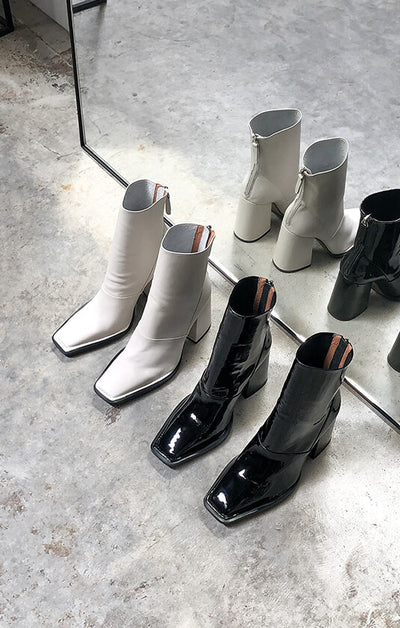 THE EDIE BOOT - BONE LEATHER – All